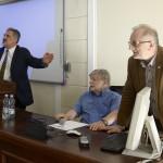 Prof. Jerzy Miziołek, prof. Szewach Weiss i prof. Stanisław Sulowski. Fot. Janusz Rudziński