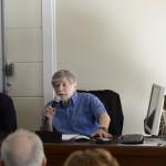 prof. Szewach Weiss opowiada o Menachemie Beginie.  Fot. Janusz Rudziński