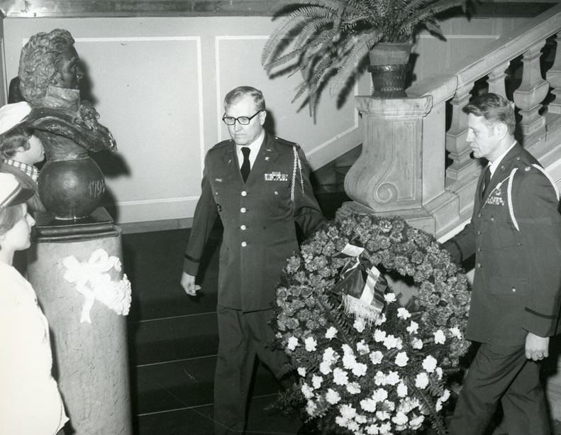 Uroczystości kościuszkowskie na Uniwersytecie Warszawskim w 1977 r.