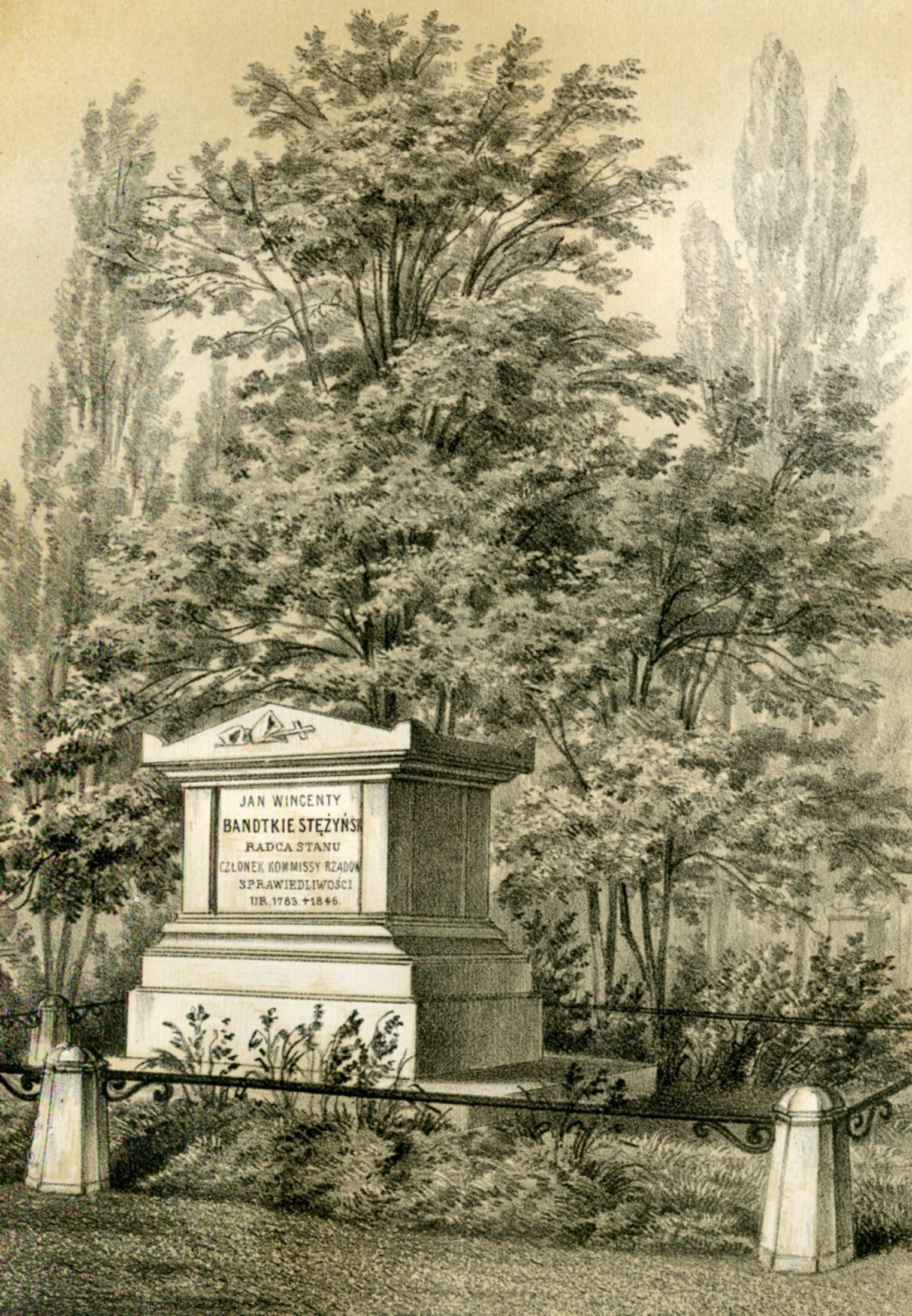 Grób Jana Wincentego Bandtkiego na Cmentarzu Ewangelicko-Augsburskim