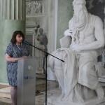 Przemawia Dorota Janiszewska-Jakubiak, p.o. dyrektora Narodowego Instytutu Polskiego Dziedzictwa Kulturowego za Granicą – Polonika